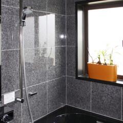 LIXIL/リクシル/お風呂/浴室/ユニットバス/システムバス/... ♪バスルームの施工事例♪⠀ 壁をタイルに…