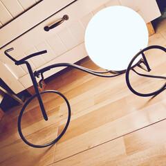 照明/自転車/ライト/アイアン/ランプ/スタンドライト/... なんとなくツボって買った照明。 やっぱり…