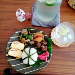 ランチ/LIMIAごはんクラブ/器のある暮らし/おにぎり/すだち/ワンプレート/... 投稿忘れてました。今日のお昼ごはんお弁当…