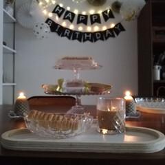 誕生日パーティー/誕生日飾り/おやつ/インテリア/ダイソー/セリア/... 誕生日ディスプレイの続きです。 ライトア…