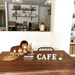 手作り雑貨/ハンドメイド/編み物/DIY/雑貨/100均/... こんばんは。キッチンからの眺めです。キッ…