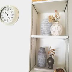 一輪挿し/花器/ZARAHOME/ドライフラワー/飾り棚/マンション/... 最近の飾り棚のディスプレイはこんな感じで…