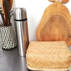 木製スパテル(スパチュラ) 穴あき 30cm 厚口 調理用木べら(ヘラ、スパチュラ)を使ったクチコミ「今日のお昼、薬局のポイントで購入した水筒…」