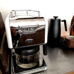 家電/コーヒー/コーヒーメーカー/キッチン雑貨/住まい/掃除/... 毎日使っているコーヒーメーカー。 お湯出…