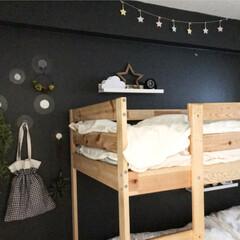 寝室/二段ベッド/インテリア/リメイク/ハンドメイド/エコバッグ/... 娘用のエコバッグです。 真ん中で絞って普…(3枚目)