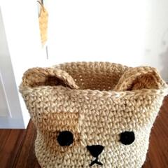 コクヨ 麻ひも チーズ巻き麻紐 480m   コクヨ(ひも、ロープ)を使ったクチコミ「折りたためる犬?のかご編みました。 はじ…」