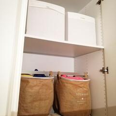 イケア 毛布 ホワイト 130x170cm 601.738.56 | イケア(電気毛布、ひざ掛け)を使ったクチコミ「ここは子供の寝室です。 ぬいぐるみ収納は…」