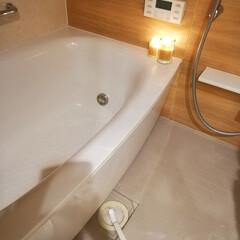 キャンドル/バスルーム/風呂/salut/風呂掃除/セリア/... 洗面片付けてたら使ってないキャンドルみつ…