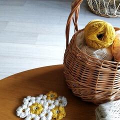お花のモチーフ/かぎ針編み/編み物/花見/ダイソー/セリア/... こんにちは☀  今はお花のモチーフ編み作…