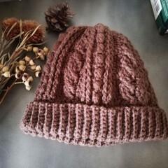 LIMIA手作りし隊/ニット帽/ドライフラワー/編み物/雑貨/ハンドメイド/... 母に頼まれてたニット帽編みました☆ あさ…