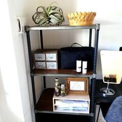 無印良品 ナイロンメイクボックス・L 黒 | 無印良品(メイクボックス)を使ったクチコミ「棚を模様替えしました。 少しスッキリさせ…」