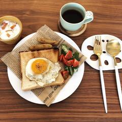 コーヒー/朝ごはん/トースト/手作り/至福のひととき/LIMIAごはんクラブ/... 朝ごはんはパンとご飯どっちも食べれる派で…