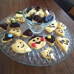 バナナチップ/ダルトン/クッキー/こどものいる暮らし/バレンタイン/おやつ/... バレンタインに子供達とクッキー焼きました…(1枚目)