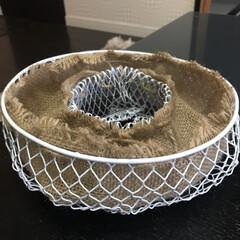 ハンギングバスケット/リースハンギング/寄植え/DIY/キャンドゥ/100均/... キャンドゥのワイヤーゴミ箱で、ハンギング…(3枚目)