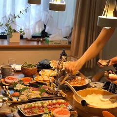 夕飯/手巻き寿司/おうちごはん/しあわせ/♡/フォトコンテスト 家族みんな 大好きな手巻き寿司です。 ♡…