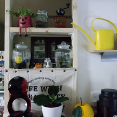 DIY収納 リビングからキッチンが丸見えだったので、…