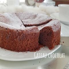 手作りスイーツ/チョコ/ガトーショコラ/チョコレートケーキ/手作りお菓子/お菓子作り/... ガトーショコラ 20年くらい作り続けてい…