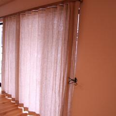 カーテン/リネンのカーテン リネン100%のカーテン 天然素材は風合…