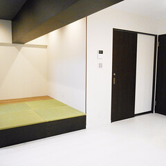 畳スペース/リビング リビングの脇に造った小上がりの畳スペース