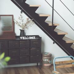 ジャグ/収納/フレーム/インテリア/収納棚/階段/... インスタグラマーsa_ra_さんのご自宅…
