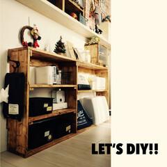 SPF/DIY/セリア/インテリア/住まい/収納 カウンターの下にラックを作りました! デ…