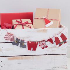 クリスマス/サンタ/サンタクロース/ガーランド/バンティング/サンタバンティング/...
