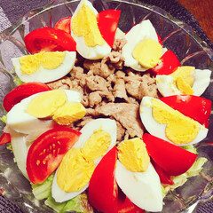 サニーレタス/野菜/ポークジンジャー/豚肉/トマト/サラダ/... 🥂chiyo's  kitchen🍴  …