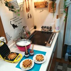 うまい村デイリー アヲハタ 55 イチゴ 150g x6(ジャム、コンフィチュール)を使ったクチコミ「角度変えてみた😂  今日はカラフルなpi…」