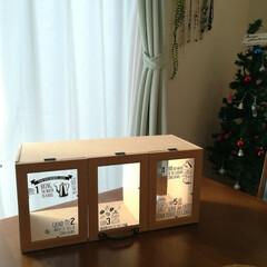 ショーケース手作り/パタパタ扉/フォロー大歓迎/クリスマス/クリスマスツリー/DIY/... おはようございます♬  DIYのイベント…