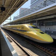 帰り際/黄色い/東海道新幹線/夢叶う/幸せ/ドクターイエロー/... 夢叶いました♡ 「幸せの黄色い新幹線」ド…