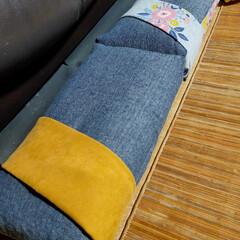 クッションカバー/ソファ/パイプ枕/枕/リメイク/オットマン/... 座面の高さが高すぎて、座ると床に足がつか…