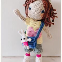 人形/休日の過ごし方/あみもの/手編み/あみぐるみ doll
