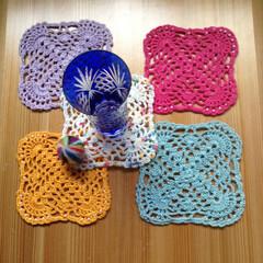 レース編みのコースター レース編みのコースター 小物かざりの敷き…