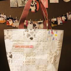 トートバッグ/折り紙/猫/100均/ハンドメイド/暮らし 折り紙トートバッグ③出来ました♪  今回…