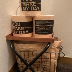 トイレットペーパー/トイレットペーパーカバー/雑貨/100均/セリア 可愛い紙袋でトイレットペーパーカバーを作…
