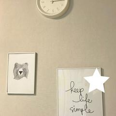 フレーム/ポスター/雑貨/インテリア お気に入りのポスターです。 時計も真っ白…