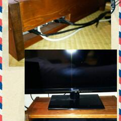 テレビ台 ハンドメイド。 簡単なテレビ台ですが D…