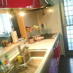常に綺麗に/赤いキッチン/キッチン/楽しみ/地域の文化祭/おはようございます おはようございます☺ 今日こちらはとって…