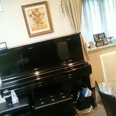 リビング/調律/ピアノ 旦那さん、子供達二人、まめちゃんはもちろ…