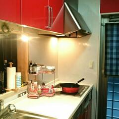 内緒💠/赤いキッチン/でも/白いキッチン おはようございます💠  今日は、仕事が昼…(2枚目)