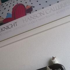 階段/階段照明/猫ちゃん 階段の照明のところに、 隠れ猫ちゃん。(…