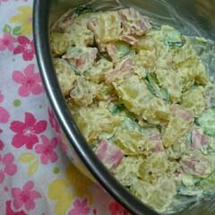 夕ごはんの一品/赤いキッチン/さつまいものポテトサラダ/さつまいも 赤いキッチンより。   今日のおすすめ。…(1枚目)