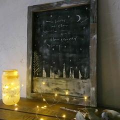 リメイク/空き瓶/100均/生活雑貨/レシピ/フライングタイガー 空き瓶リメイクでクリスマスライト♪