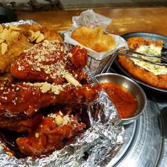 チヂミ/韓国料理/韓国/チーズ/チキン/LIMIAごはんクラブ/... 🐓~~❤️
