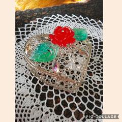 ワイヤー宝石箱/レジンアレンジ/キャンドゥ/ハンドメイド キャンドゥで買ったワイヤーの小物入れをレ…(1枚目)
