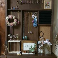 リミ友ちゃんハンドメイド リミ友さんに頂いた収納棚を壁に掛けた感じ…
