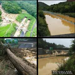 災害/雨季ウキフォト投稿キャンペーン/令和の一枚/にゃんこ同好会 旦那が仕事で週2通る山陽道、…😨😰😱 川…