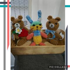 編みぐるみ/出産祝い/春/至福のひととき/ハンドメイド/ダイソー 出産祝いに編みぐるみ‼️と、なんとなーく…