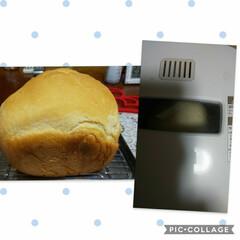 シンプル/ホームベーカリー/パン作り 明日朝のパンを焼いてました〜いい匂いクン…