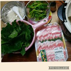 食事情 我が家のシンプル鍋 鍋には昆布で出汁とり…